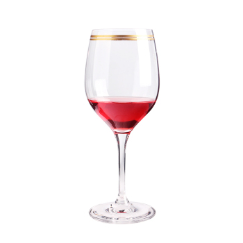 W142 New Stype All Size Factory Supply CustomDesign Silver Rimmed Wine Glasses