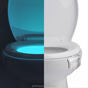 China Factory 8-Colors Motion-Activated LED WC Toilet Bowl Night Light