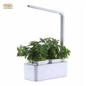 2018 Amazon Home Decorating Vegetable Indoor Self Watering Led Hydroponic Garden Smart Flower Pots