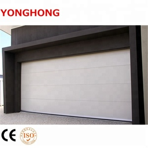 Automatic remote control metal flat safety door designs garage door