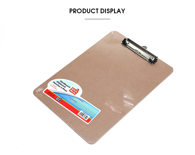 2019 School Customized Clipboard Business Office Wood Wooden writing A4 Clip Board