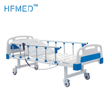 China suppliers Deluxe Manual Double Crank medical Hospital Bed, carebed