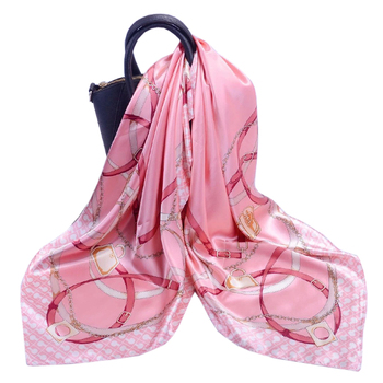 New high quality 90x90 silk satin square scarf