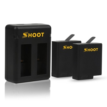 2018 New SHOOT Go Pro Heros 7 6 5 Battery AHDBT-501 Rechargeable Batteries + Dual Charger AHDBT 501 for GoPros Hero7 Accessories