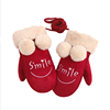 Winter girl fashion wholesale keep warm fleece kids gloves