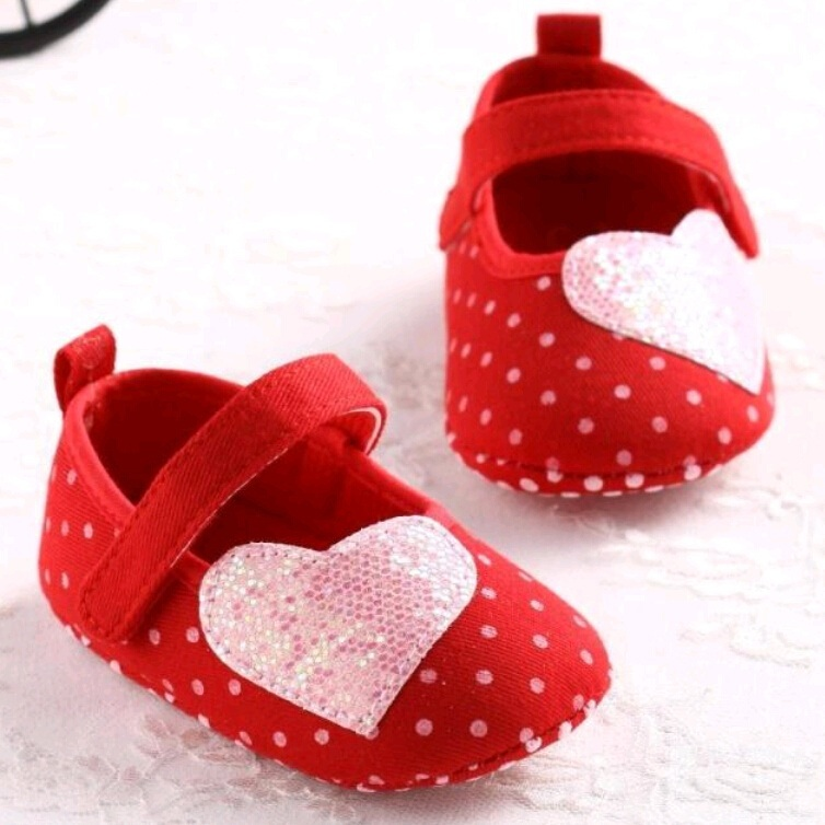 2015 baby girl non-slip toddler shoes soft-soled moccasins newborn soft cotton prewalker pink heart baby princess shoes