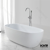 artificial stone round freestanding small corner bath