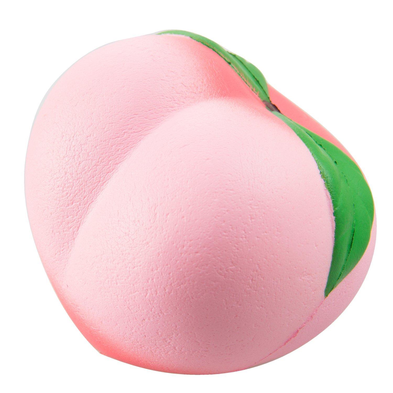 WATINC 1 pcs Kawaii 4inch peach Squishy Cream Scented Slow Rising Toy hop props, decorative props(peach)