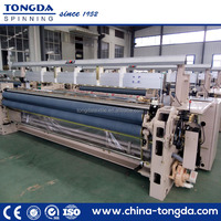 Water jet loom with lowest price double nozzle water jet weaving machine