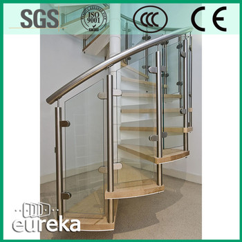 Factory Customized Stair Glass Plexiglass Railing Price