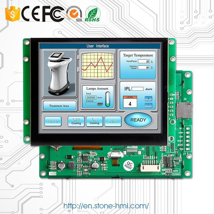 "15.1"" TFT Touchscreen with UART port that can be controlled by any MCU via Simple Powerful commands"