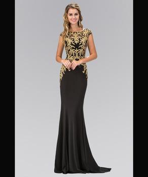 c67c91f1e Wholesale Elegant Gold Beaded Long Fishtail Evening Dress Prom dress 2018