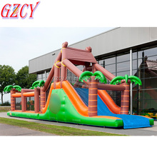 Kids birthday party obstacle course race game,blow up forest obstacle course for sale