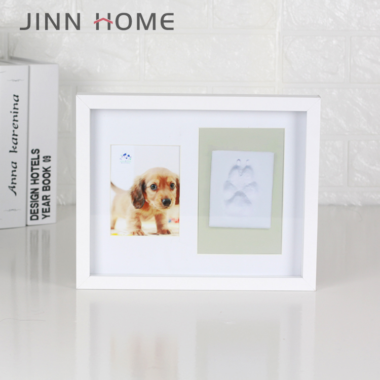 Dog Paw Print Pet Keepsake Footprint Kit Photo Frame With Clay Pet Lovers  Pet Memorial Picture Frame - Buy Dog Footprint Kit Photo Frame,Dog Clay