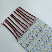 SMD4014 rigid bar light 144led/m 50-60lm/led show case under cabinet aluminum pcb strip 4014 led rigid bar
