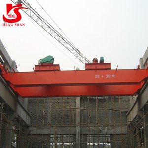 Tube Lift Pulling Overhead Crane with Double Trolley