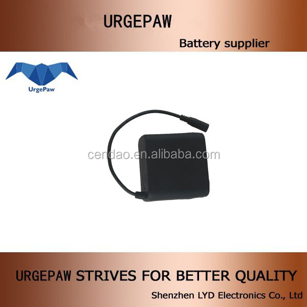 2s4p lithum ion battery cell 10.4ah 7.2v li ion battery pack for bike light high quality Urgepaw 7.2v 18650 battery pack A grade