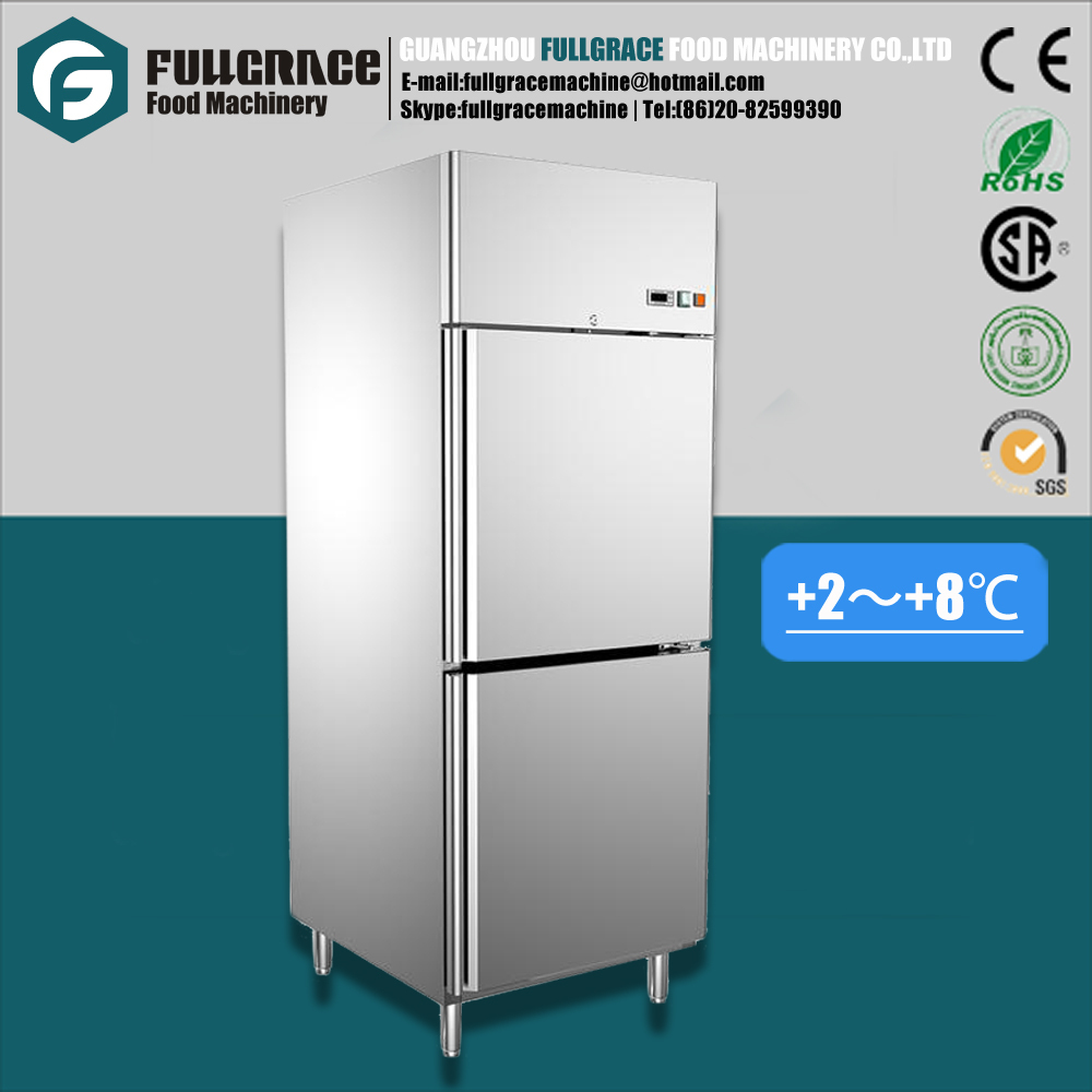 Hot sale 528L overall stainless steel structure restaurant and hotel refrigerator