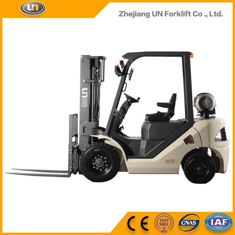 Price Of G Serie 1.8-3.5Ton Gas Forklift Dual Fuel With 3 Stage Mast