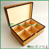 heavy Fuboo bamboo tea storage box 6 divided compartments