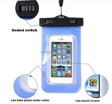 100% sealed Waterproof Diving Bag For Mobile Phones waterproof cell phone bag for swimming