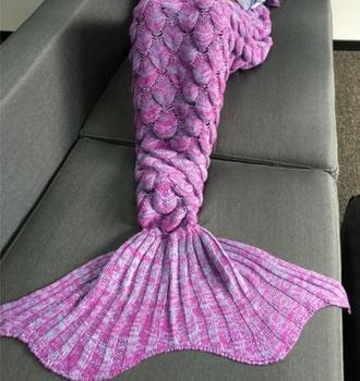 Pattern Crochet Mermaid Tail Mermaid Blanket Knitted Mermaid Tail