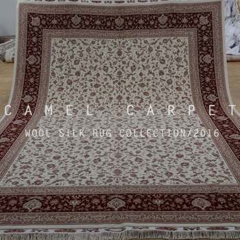 Persian Isfahan Wool Silk Carpet Isfahan Hand Knotted China Luxury