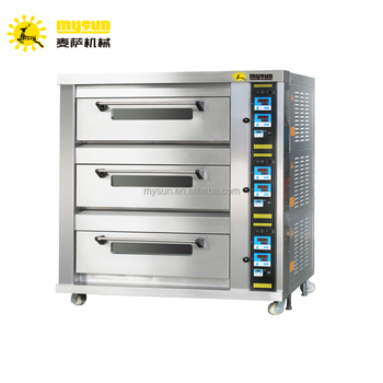 Electric 3 Deck 9 Trays 400 600mm Commercial Bakery Oven