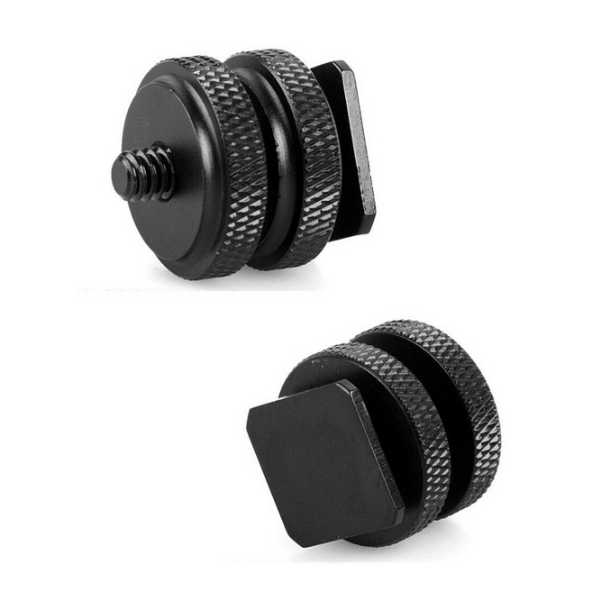 "1/4"" Tripod Screw to Flash Hot Shoe Mount Adapter For DSLR Camera Hotshoe Studio Accessory"