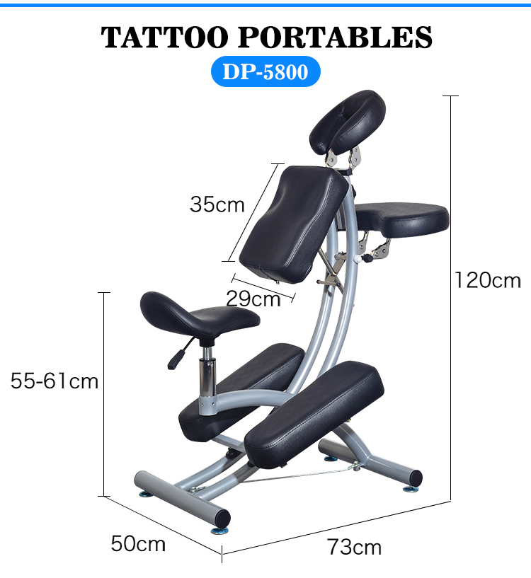 adjustable portable tattoo chair fold mesh tattoo chair