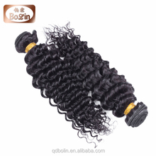 100% Indian non-remy Hair Weave Color #1 Deep Wave Hair weaving