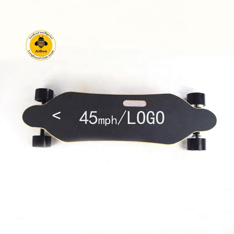 45mph Shenzhen 1000w hub motor direct drive remote control import suv bamboo longboard electric skateboard all-terrain