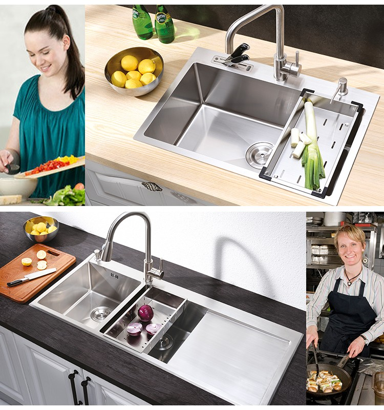 Most Popular Products Harvest Gold Ceramic Undermount Stainless Steel Kitchen Sinks On Sale