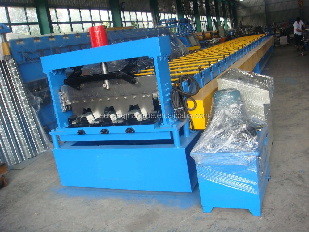 Hotsale YX-75-305-915mm building staal floor decking rolvormmachine