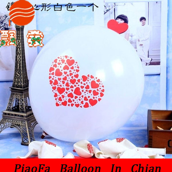Shenzhen Supplier 2015 Wholesale Clear Red Round Latex Balloons With printed Logo