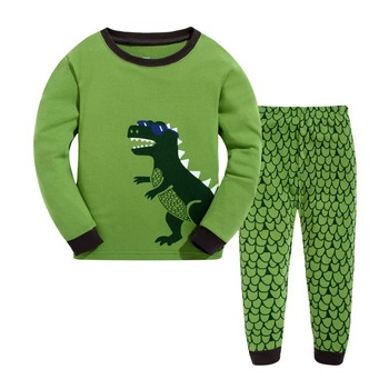 Комплект одежды для малышей Лидер продаж пижамы дети животных Пижама  Детские пижамы Мальчики животных пижамы Детские 1a9d96dda3cc8