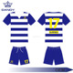 best selling MOQ custom sublimation blue and white mens soccer jerseys