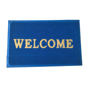 Handmade PVC Anti-Slip Loop Green Office Welcome Floor Mats Door