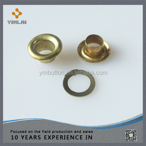 Fancy round metal eyelets for shoes bag parts eyelets