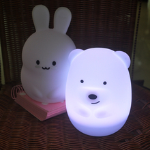 Tap Color Control BPA-Free Rechargeable Night Light, Portable Silicone Cute Nursery Night Lamp