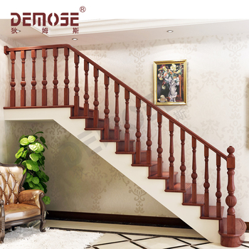 Design Modern Wooden Handrails Railing For Indoor Stairs
