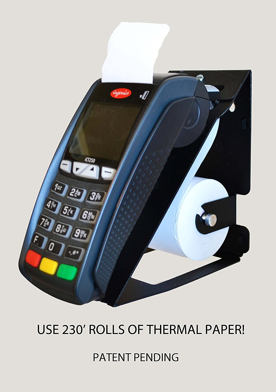 Ingenico Wall Mount, Thermal Paper Adapter Combo! Fits ICT220, ICT250