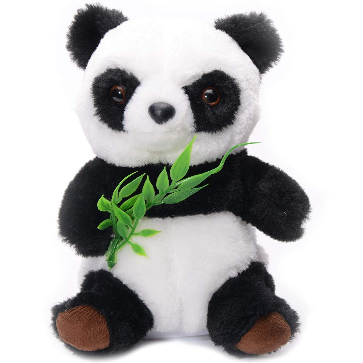Talking Panda Cute Fluffy Mimicry Toy Repeats What You Say Electronic Pet for Kids/Toddlers/Teens Interactive Toy Educational Gift for Birthday Party/Christmas Plush Animated Animal Talking Hamster