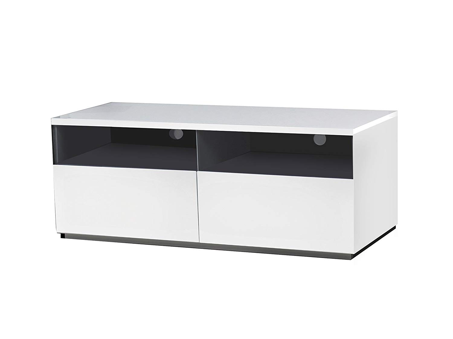 Get Quotations Cristallino High Gloss White Lacquer Entertainment Center By Casabianca Home Cb 3390tv