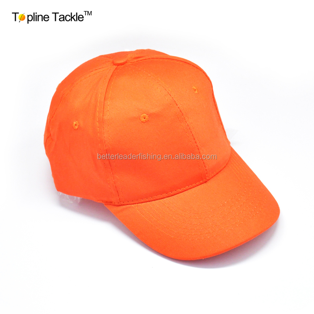 New Style 100% Cotton Fishing Cap In Orange Color