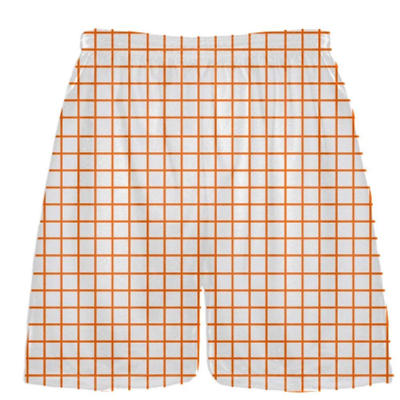 Pink Lax Shorts Youth Lacrosse Shorts LightningWear Grid Pink Charcoal Gray Lacrosse Shorts