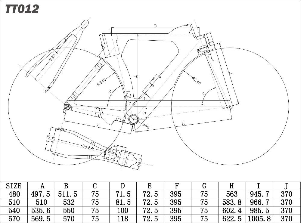 T700 Vollcarbon Tt Fahrradrahmen,Aero Zeitfahren Fahrrad Rahmen ...