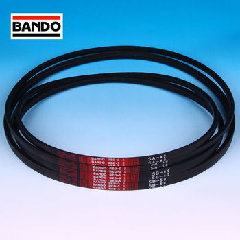 Bando Chemical Red S2 and W800 heat resistant transmission belt for agricultural machinery. Made in Japan (bando timing belt)