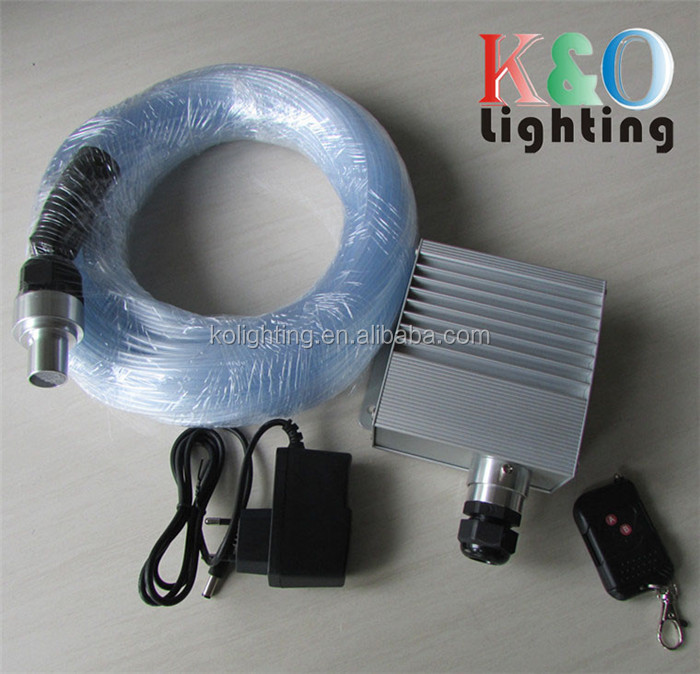 More convenient LED light with RF remote optional LED light engine for fiber optic sky star