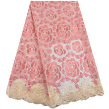 Швейцарская вуаль кружево в Швейцарии 2020 высокое качество вышивка африканская кружевная ткань модная нигерийская хлопковая кружевная фат...(Китай)